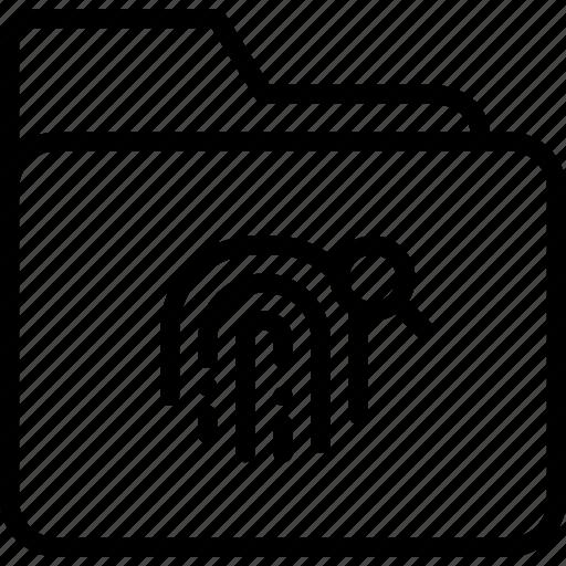 balance, fingerprint, folder, justice, legal, secure icon