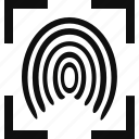 crime, finger, fingerprint, law, legal, print icon