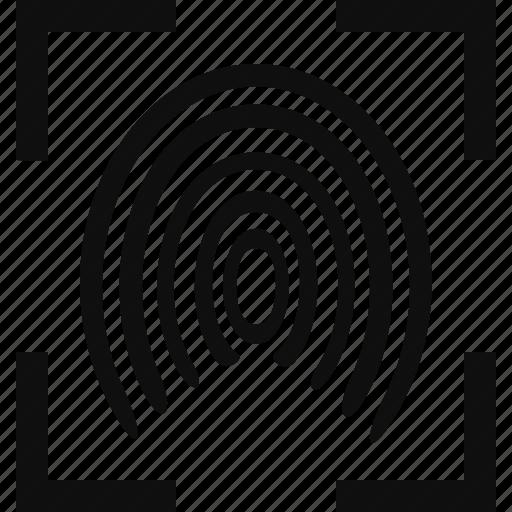 crime, finger, fingerprint, law, legal, print icon
