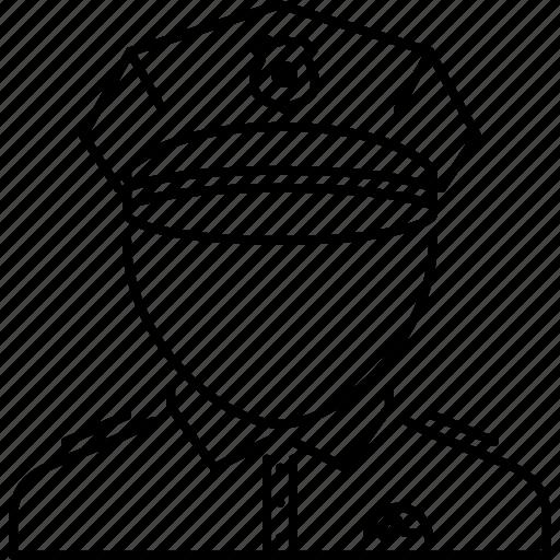 court, jurisprudence, law, police, policeman icon