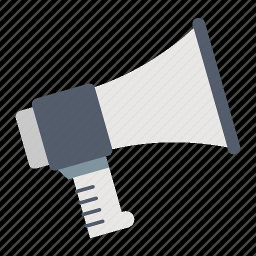 announcement, law & police, megaphone, speaker icon