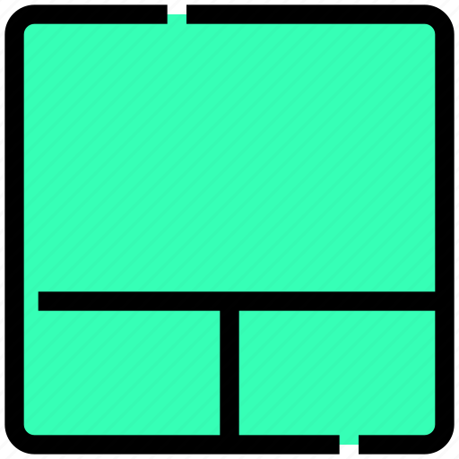 design, grid, layout, sections, stacked, three icon