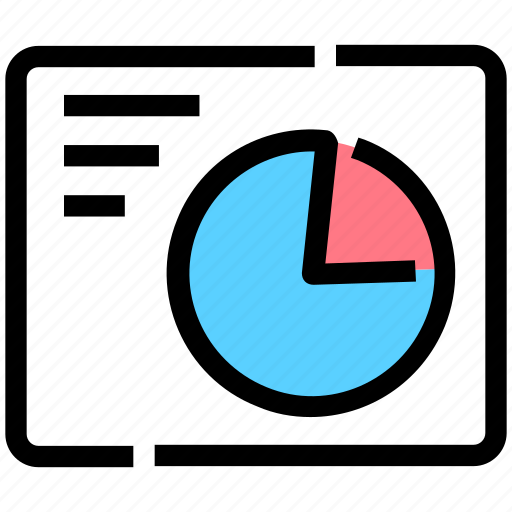 chart, diagram, layout, pie, wireframe icon