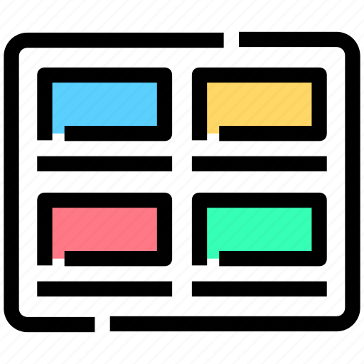designs, images, interface, posts, thumbnails icon