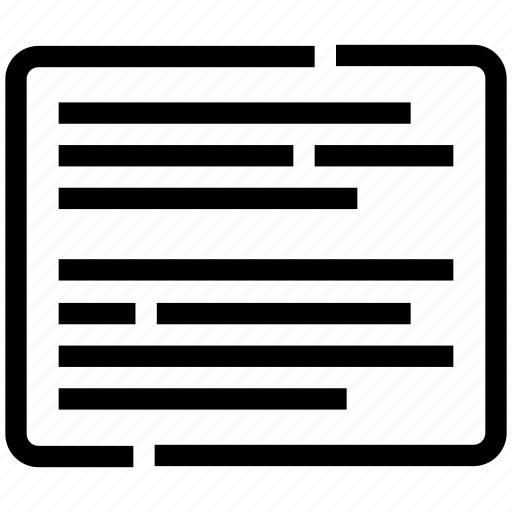 article, interface, page, post, text icon