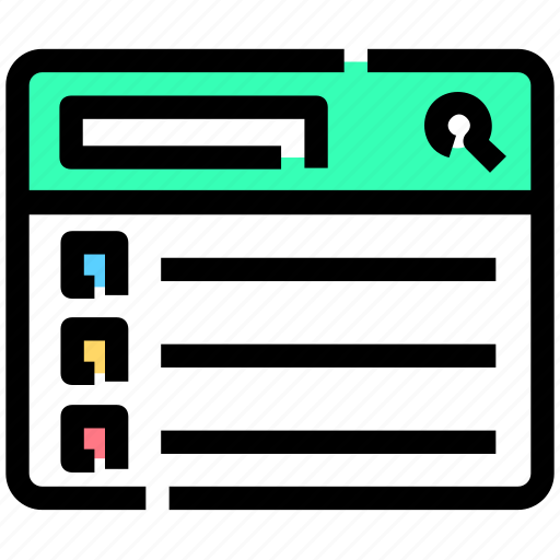 layout, list, search, serp, website icon