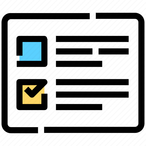 checkboxes, layout, list, task icon