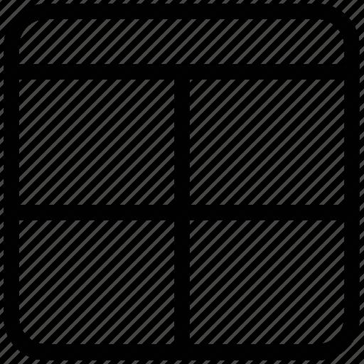 design, header with four grid, layout, pattern, scheme, website layout icon