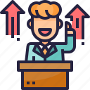 business, business man, discourse, growth, investment, leadership, meeting icon