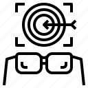 aim, future, objective, plan, vision icon