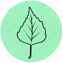birch, eco, forest, leaf, liner, nature, tree icon