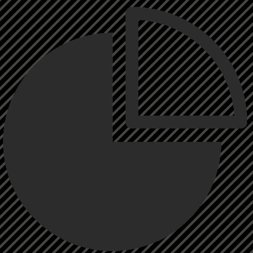 chart, graphic, piza, school, student icon