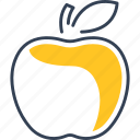 apple, food, fruit, learning icon