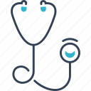learning, medicine, stetoscope icon