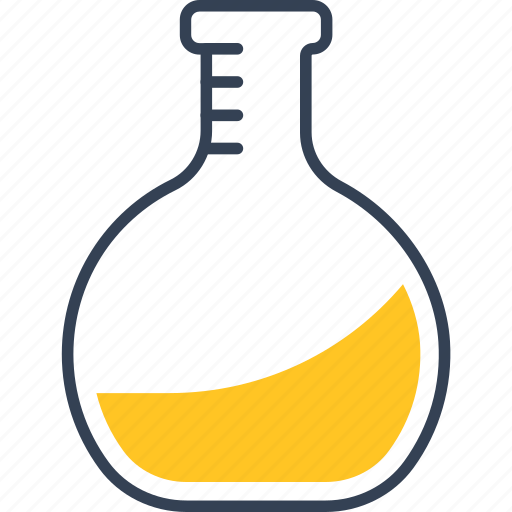 chemistry, flask, learning, study icon