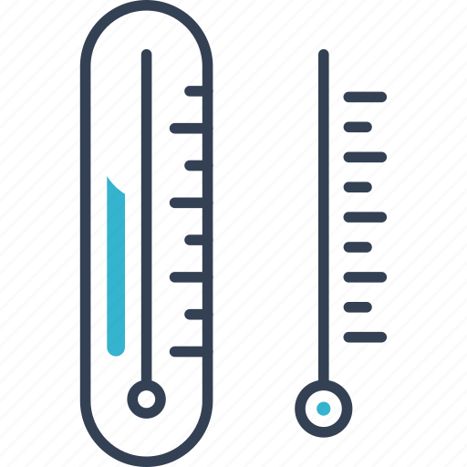 learning, physic, thermometer icon