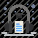 audio, book, headphone, learning