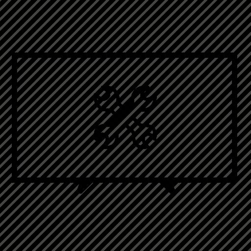 led, led tv, led tv settings, settings, television, tv, tv screen icon