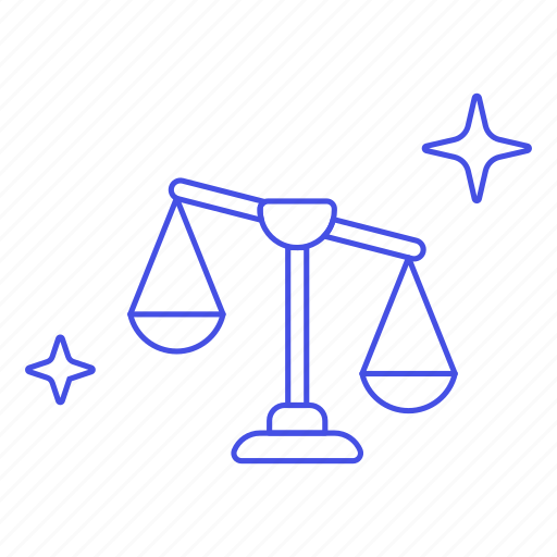 balance, case, civil, court, criminal, judicial, justice, legal, of, rules, system, unbalanced icon