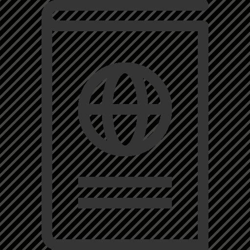 document, passport, visa icon