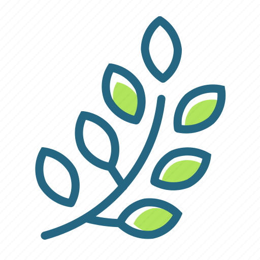 branch, leaves, nature, plant icon