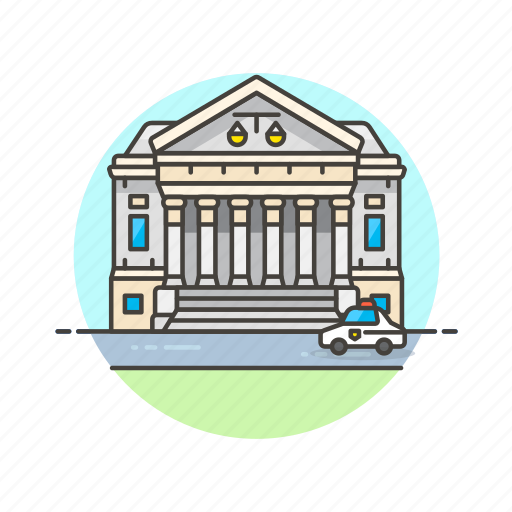 building, court, government, justice, law, legal, state icon