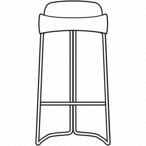 bar, bcn, chair, designer, furniture, line, stool icon
