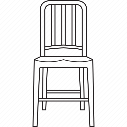 chair, design, designer, furniture, line, navy, stool icon