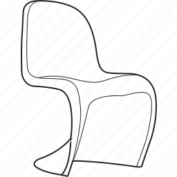 chair, design, designer, furniture, line, panton, stool icon