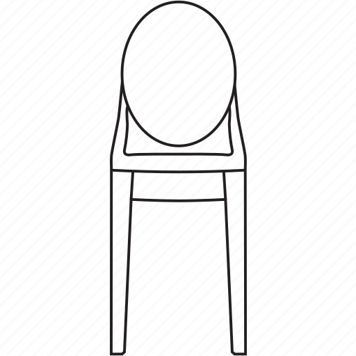chair, designer, furniture, ghost, legendary, stool, victoria icon