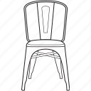 chair, design, designer, legendary, line, stool, tolix icon