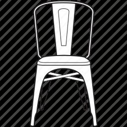 chair, design, designer, legendary, line, stool, tolix icon