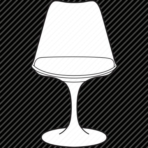 chair, design, designer, furniture, line, stool, tulip icon