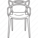 chair, design, designer, furniture, line, masters, stool icon