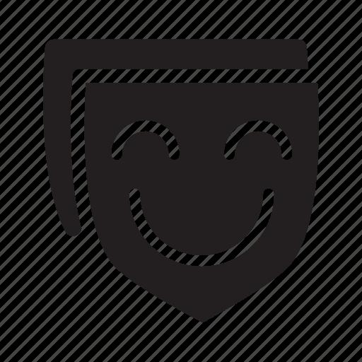 entertainment, leisure, masks, smiling, theatre icon
