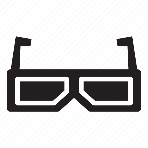 dimension, entertainment, glasses, leisure, three icon