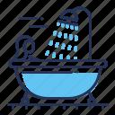 bath, bathing, female, shower icon