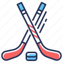 bandy, hockey, hockey sticks, puck icon