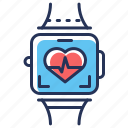 cardio, smart watch, heart, pulsometer icon