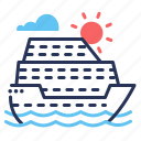 cruise, sailing, sea, ship icon