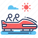 bobsled, persons, sledding, tobogganing icon