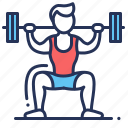 barbell, male, squat, weightlifting icon