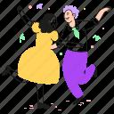 party, music, choreography, leisure, couple, art, dance, dancer, celebration