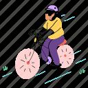 ride, bicycle, man, bike