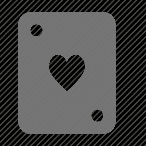 card, hearts icon
