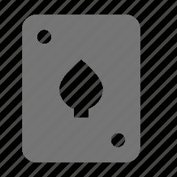 card, spades icon