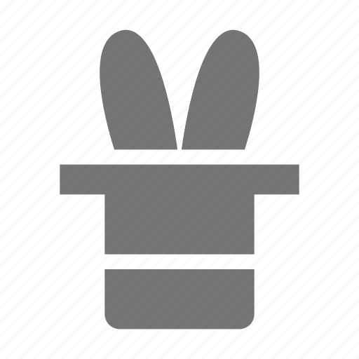 hat, magic, rabbit icon