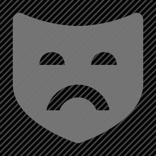 drama, mask, tragedy icon