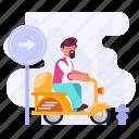 transportation, scooter, vespa, vehicle, travel, people