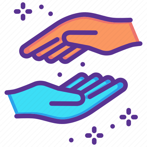 assist, forgive, hands, help, lend, partner, support icon